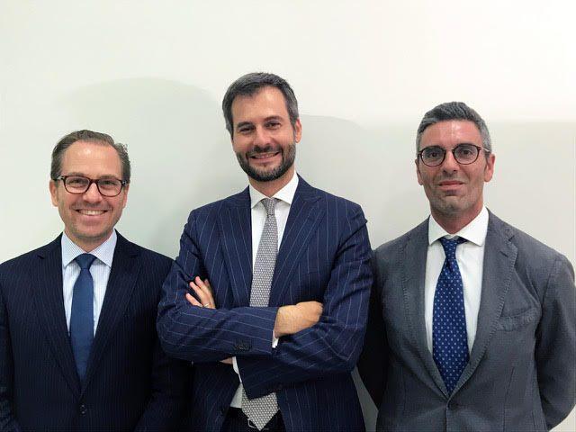 Da sin, Nicola Avi, Nino Dell'Arte, Bernardo Calculli