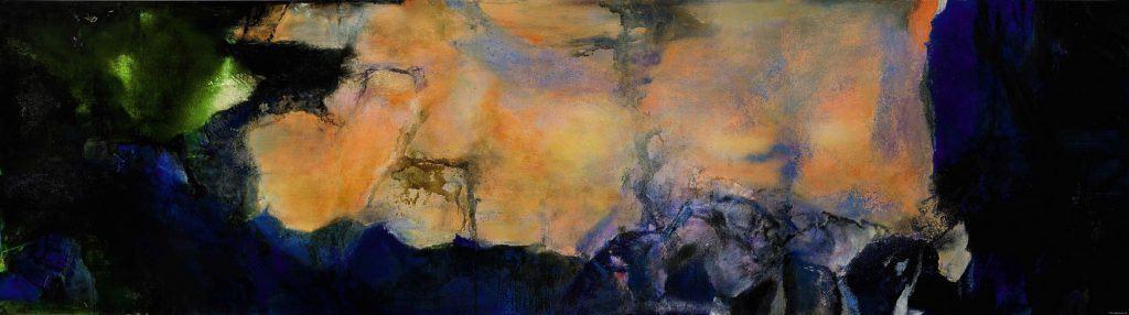 """""""Juin-Octobre 1985"""" by Zao Wou-ki. Source: Sotheby's"""