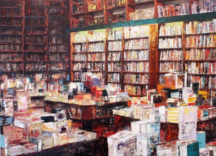 giannoni1 Libreria,-2016,-olio-su-tela,-110x150-cm