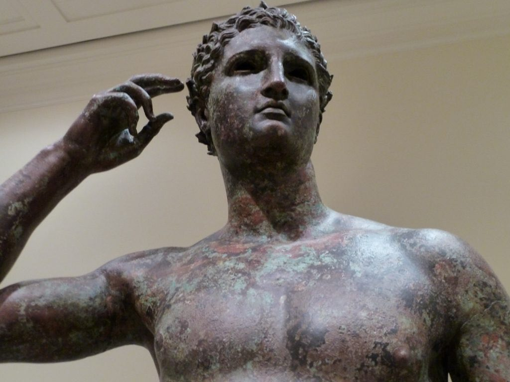 Victorious Youth (Greek, 300-100 BC) - detail
