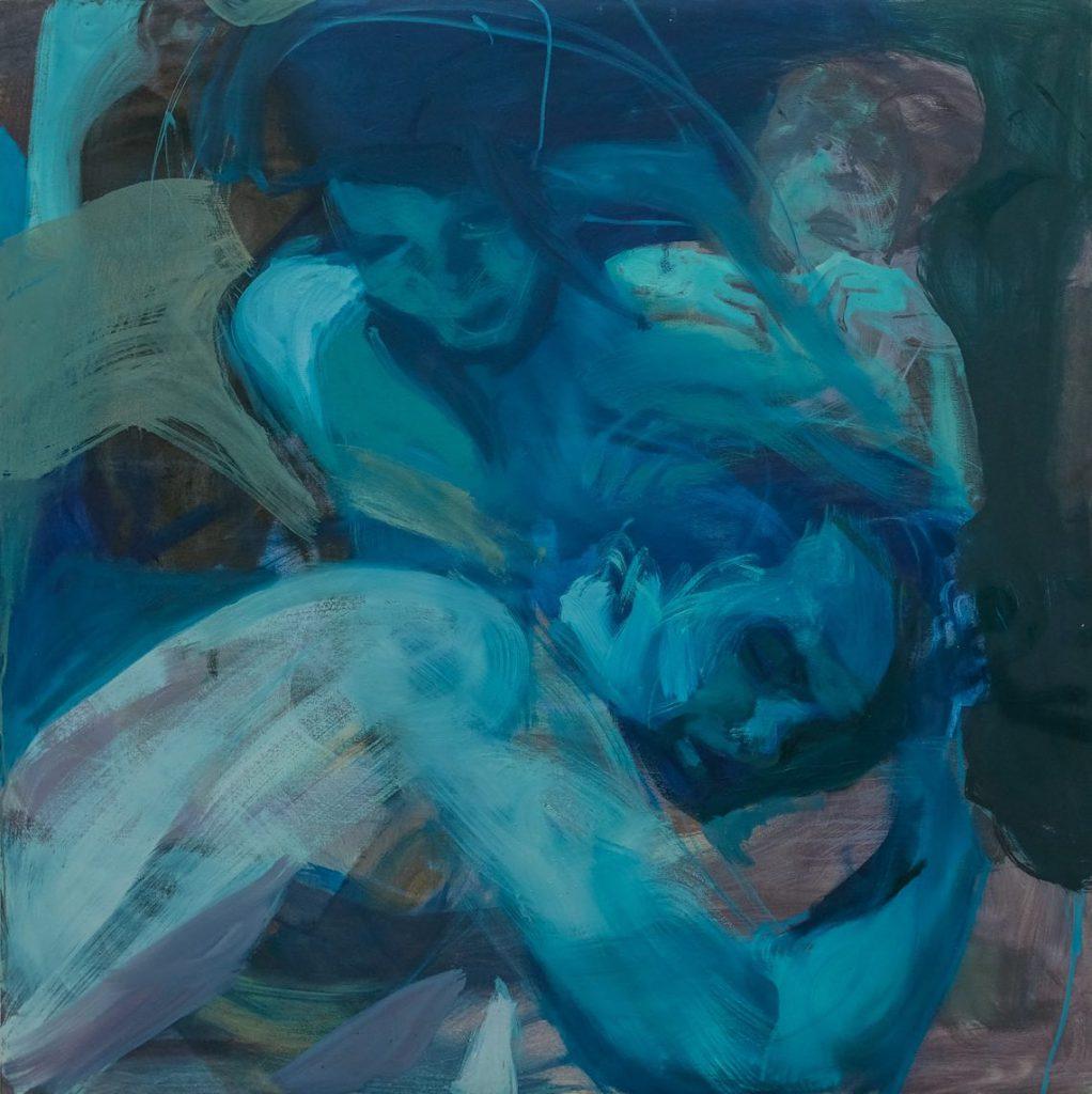 Tizta Berhanu- Watching Over,size120x120 cm (2018)
