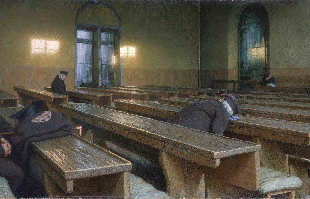 Giorno di festa (Pio Trivulzio), olio su tela. Opera di Angelo Morbelli conservata nel MusÈe d'Orsay a Parigi1991Morbelli, Angelo1892Italia - Parigi, MusÈe d'Orsay