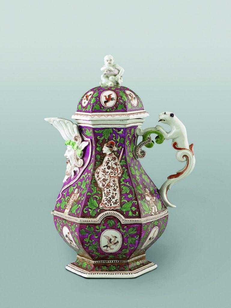 Manufaktur Du Paquier, Wien Kaffeekanne um 1725 Porcelain PO71 Coffee Pot