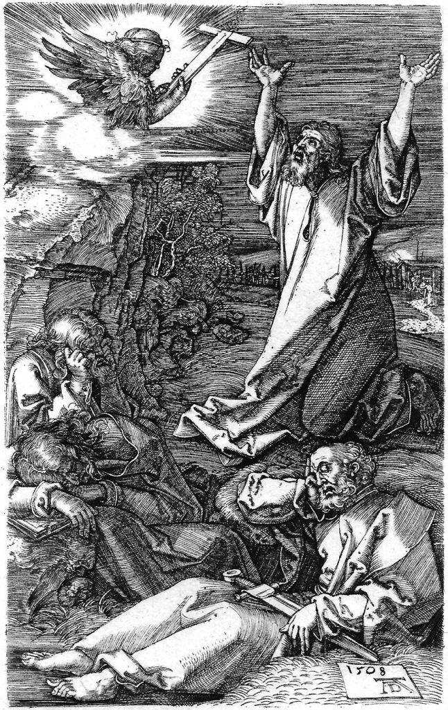 Albrecht Durer-Piccola Passione Incisa-Gesu in preghiera al Monte degli Ulivi