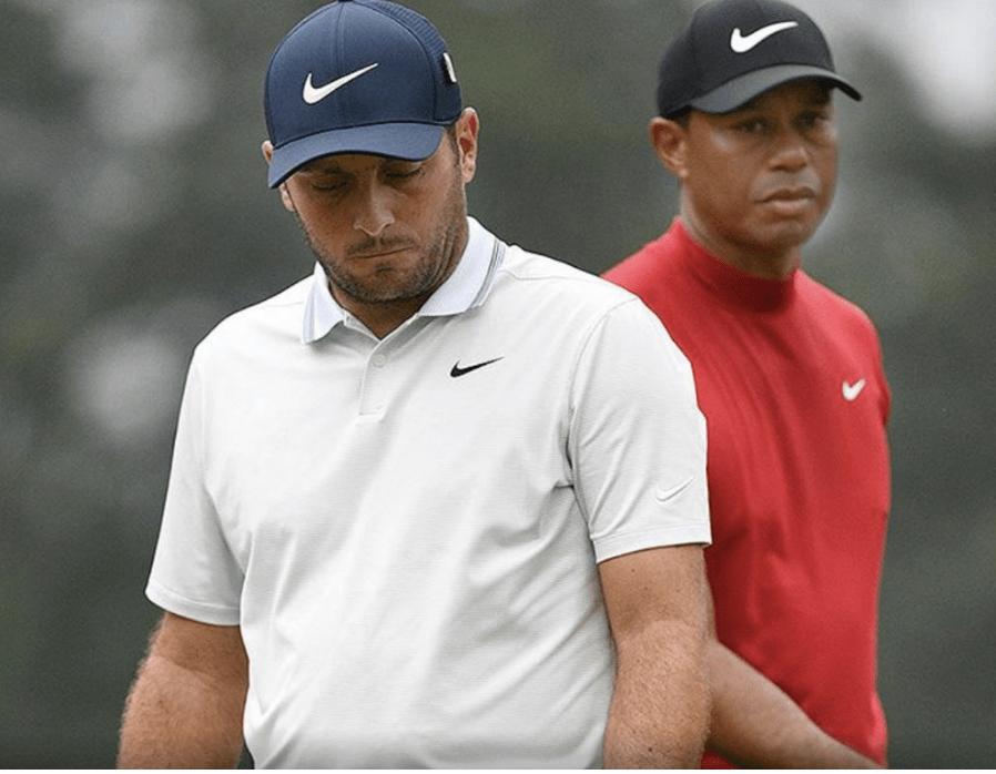 Francesco Molinari and Tiger Woods at Masters 2019