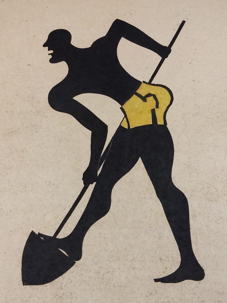 Uomo che lavora_1954-55_xilografia_Fiesole_Collezione del Comune_Dono dell'artista