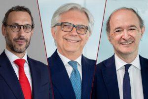 Da sinistra, Alberto Vigorelli, Sergio Bommarito, Claudio Manetti