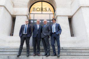 Da sinistra, i promotori di Industrial Stars of Italy 3 Enrico Arietti, Giovanni Cavallini, Attilio Arietti e Davide Milano