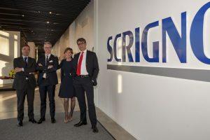 Il Management Team Scrigno. Da destra, Stefano Frazza (CFO), Maddalena Marchesini (CEO), Francesco Bigoni (CMO), Umberto Gobbi (COO).