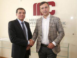 Da sinistra, Guido Coscia CFO di Proges Parma, e Diego Pelizzari, DG di Mediocredito TAA
