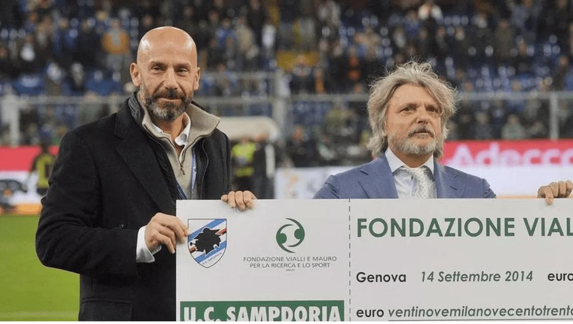 Gianluca Vialli e Massimo Ferrero