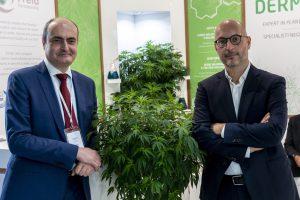 Da sinistra, Alessandro G. Cavalieri Manasse e Marco Santini, rispettivamente ad e socio dirigente di Freia Farmaceutici