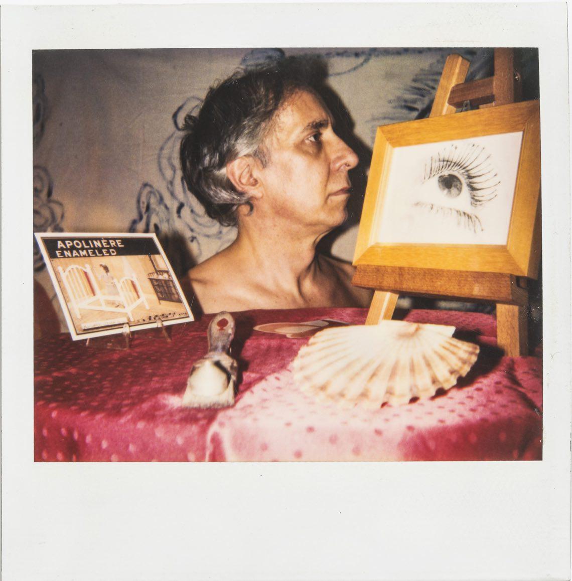 Luca Patella dis-enameled 2, 1989, Polaroid 10x10 cm