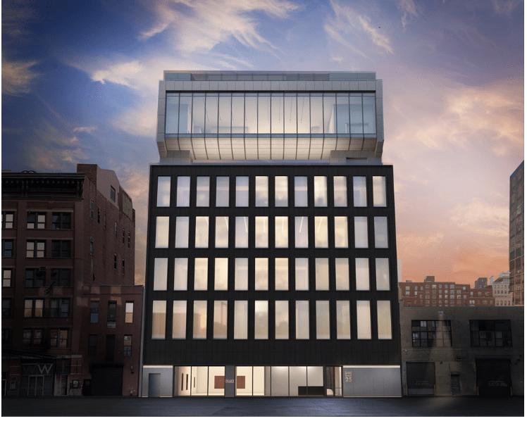 endering del nuovo quartier generale della Pace Gallery al 540 West 25th Street, New York. Immagine: Bonetti / Kozerski Architecture