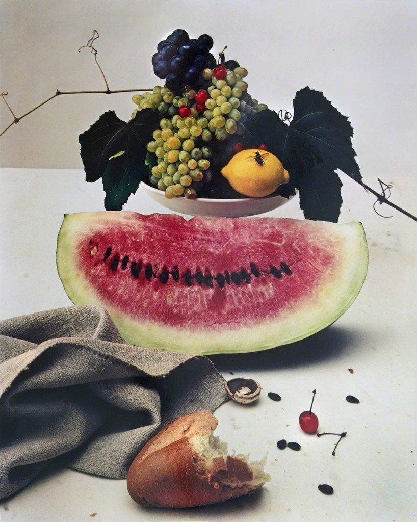 Irving Penn, Still Life with Watermelon (1947). Courtesy of Feldschuh Gallery.