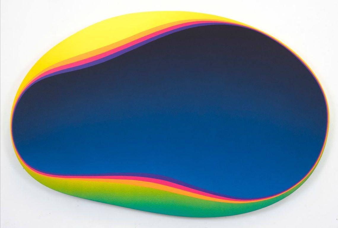 Jan Kalab, Blue Void, acrilico su tela, 94x144 cm