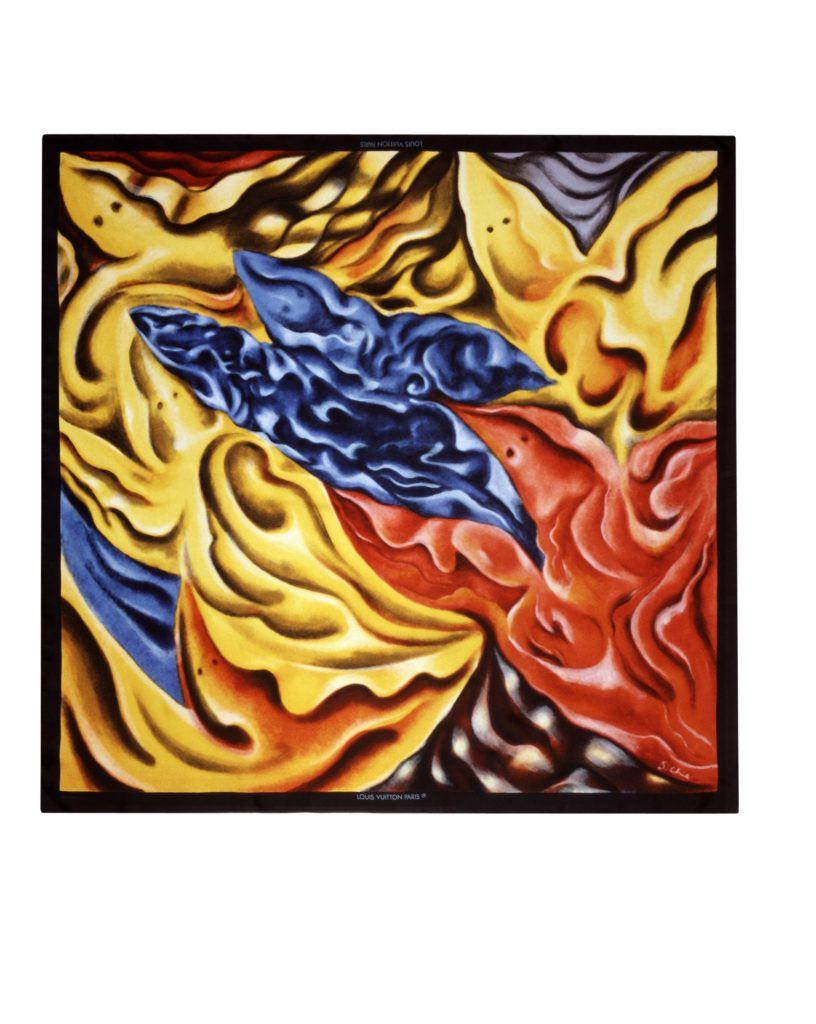 """La creazione di """"Art on Silk"""" di Sandro Chia. Foto per gentile concessione di Louis Vuitton."""