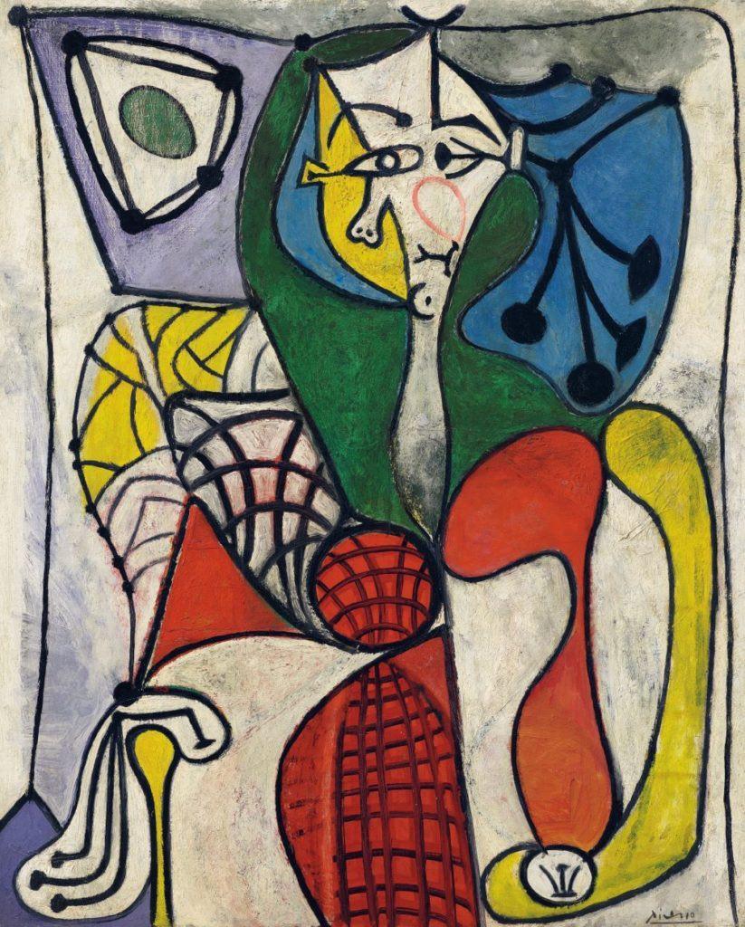 Pablo Picasso, Femme dans un fauteuil (Francoise) (1949). Immagine gentilmente concessa da Christie's Images Ltd.