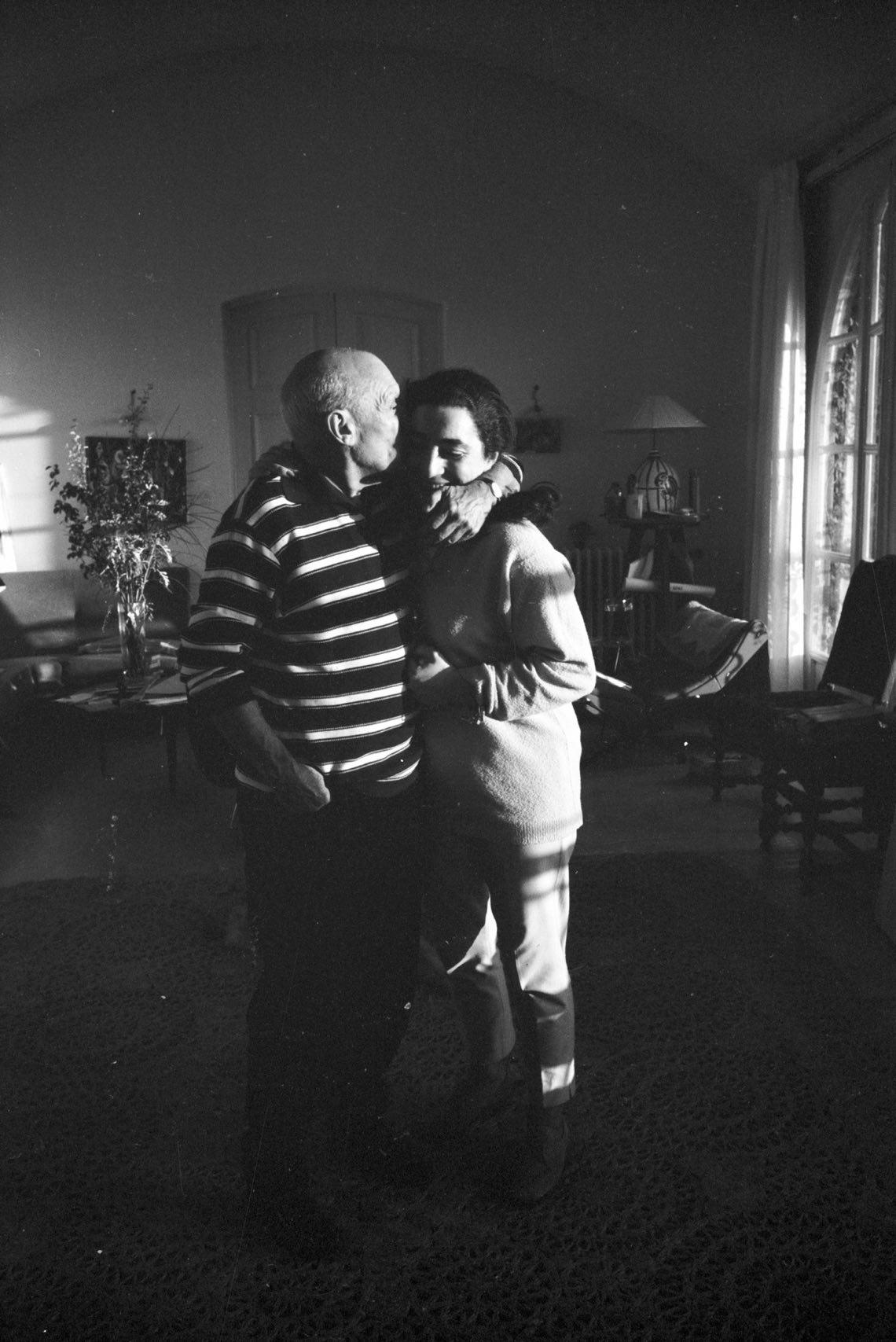 Picasso and Jacqueline. Mas Notre-Dame-de-Vie, Mougins, 14.2.1962