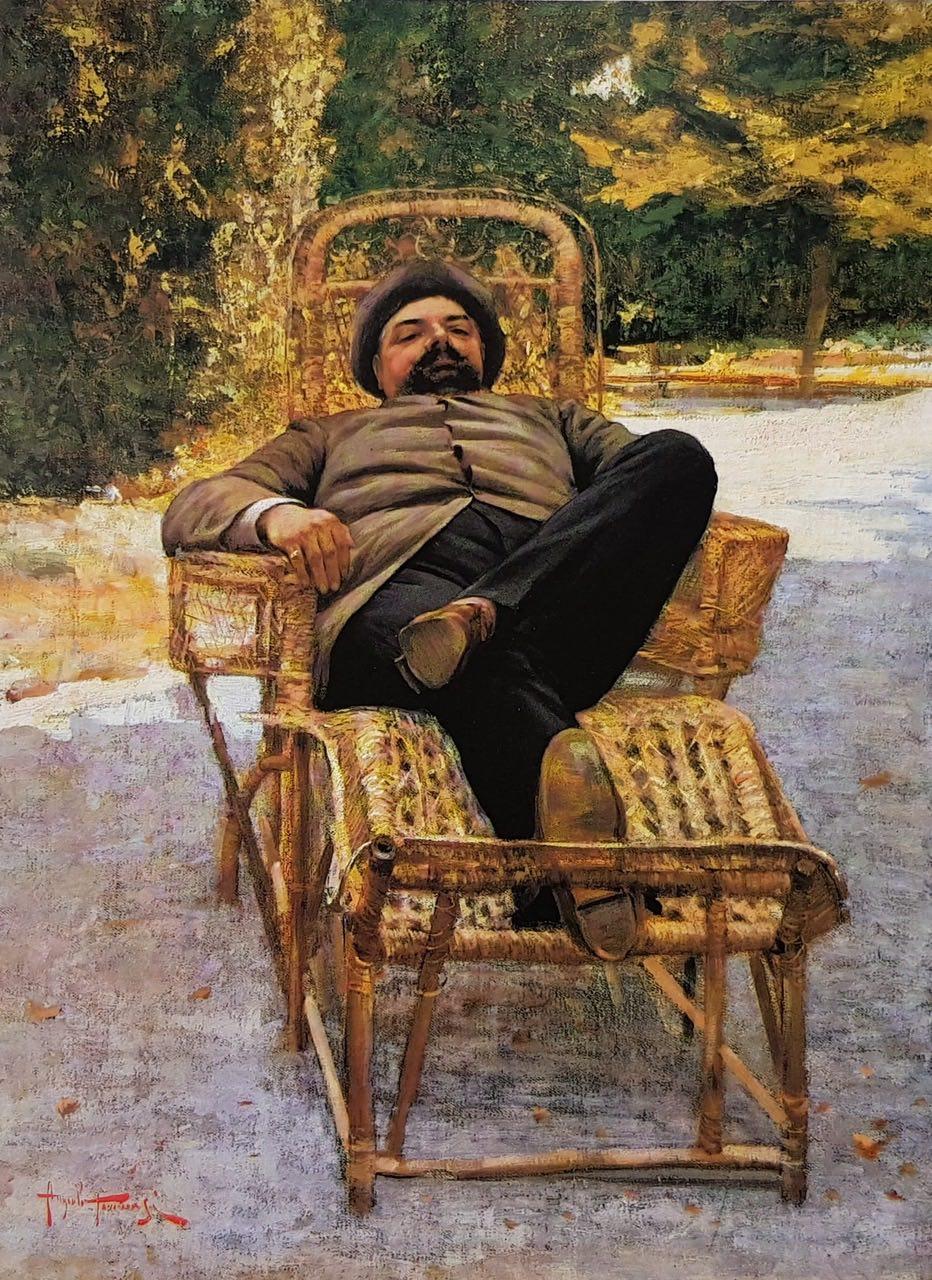 Angiolo Tommasi, Gentiluomo di campagna, 1885 ca. olio su tela, 57 x 42 cm