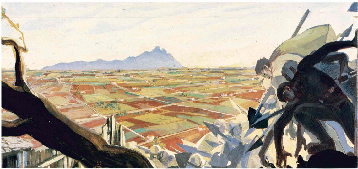 Cambellotti Duilio_(La conquista della terra oppure la redenzione dell'agro, 1934) 1