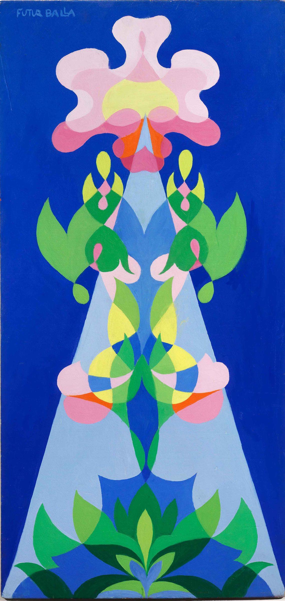 Giacomo-Balla,-Balfiore,-1925,-olio-su-tavola,-cm-66,5x31,5