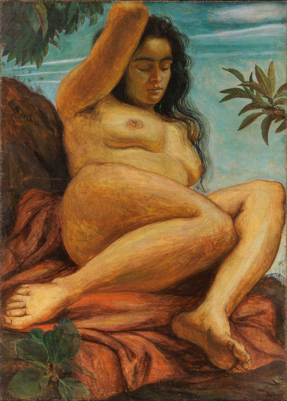 Giorgio-de-Chirico,-Nudo-femminile,-1923,-tempera-grassa-su-tela,-cm-84x
