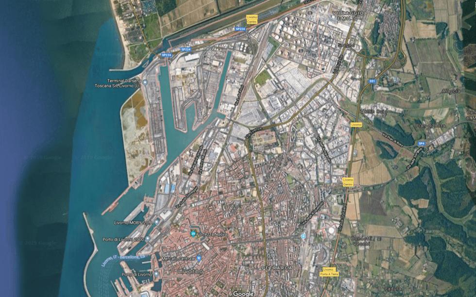 Complesso industriale vista satellitare