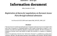 I-RFK sbarca su Euronext a 1,19 euro per azione dopo la campagna di equity crowdfunding