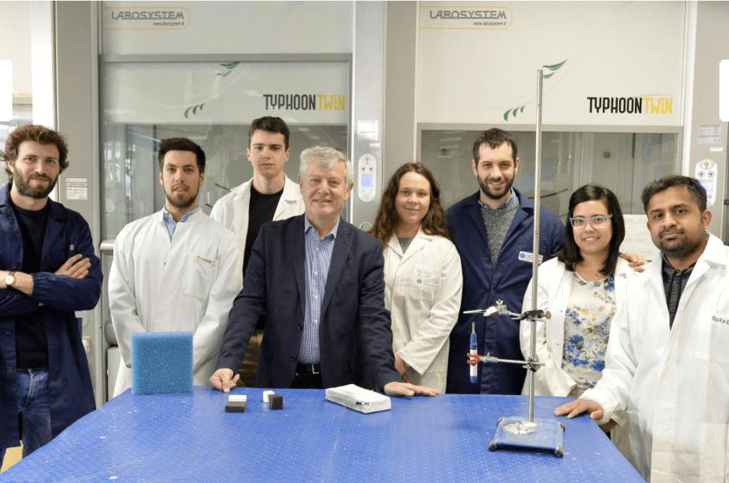 Il gruppo di ricerca del Dipartimento di Ingegneria Industriale Università di Trento (Foto ©Alessio Coser)