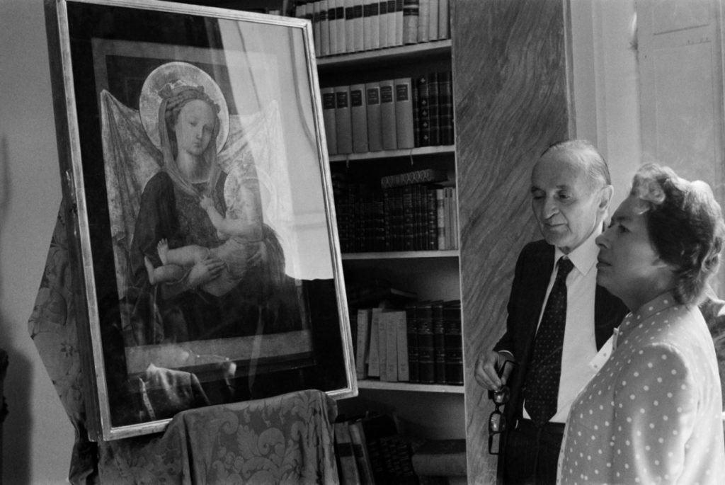 Milton Gendel, Luigi Magnani con Margaret, sorella della regina d'Inghilterra, nella Villa dei Capolavori, 1984