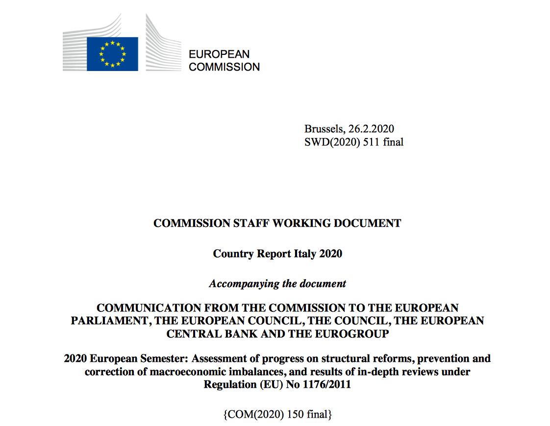 italia report commissione Ue