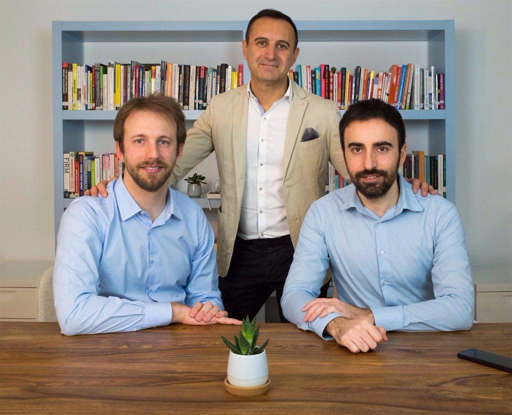 Da sinistra, i fondatori di Fiscozen Fabio Ciotoli, Enrico Mattiazzi e Vito Lomele