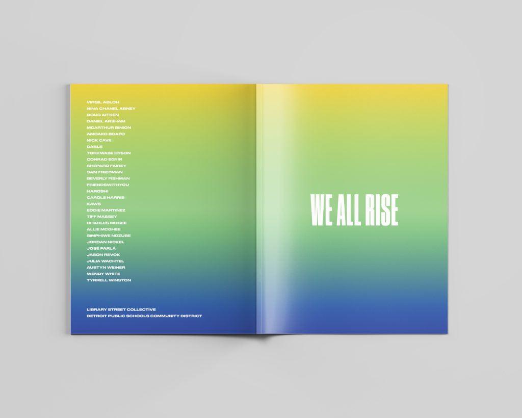 Libro da colorare per artisti di We All Rise. Foto per gentile concessione della Library Street Collective, Detroit