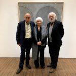 Da sinistra Andrea Alibrandi, l'artista Giulia Napoleone e il critico Bruno Corà