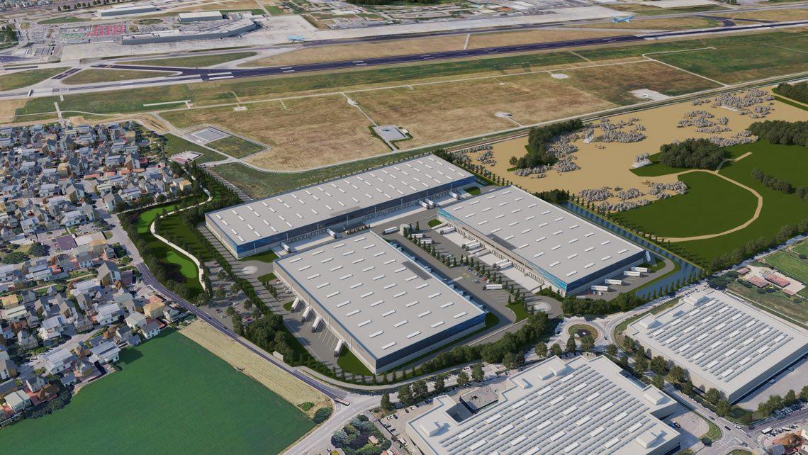 Scannell Properties - Logisticairpark Bologna vista aerea