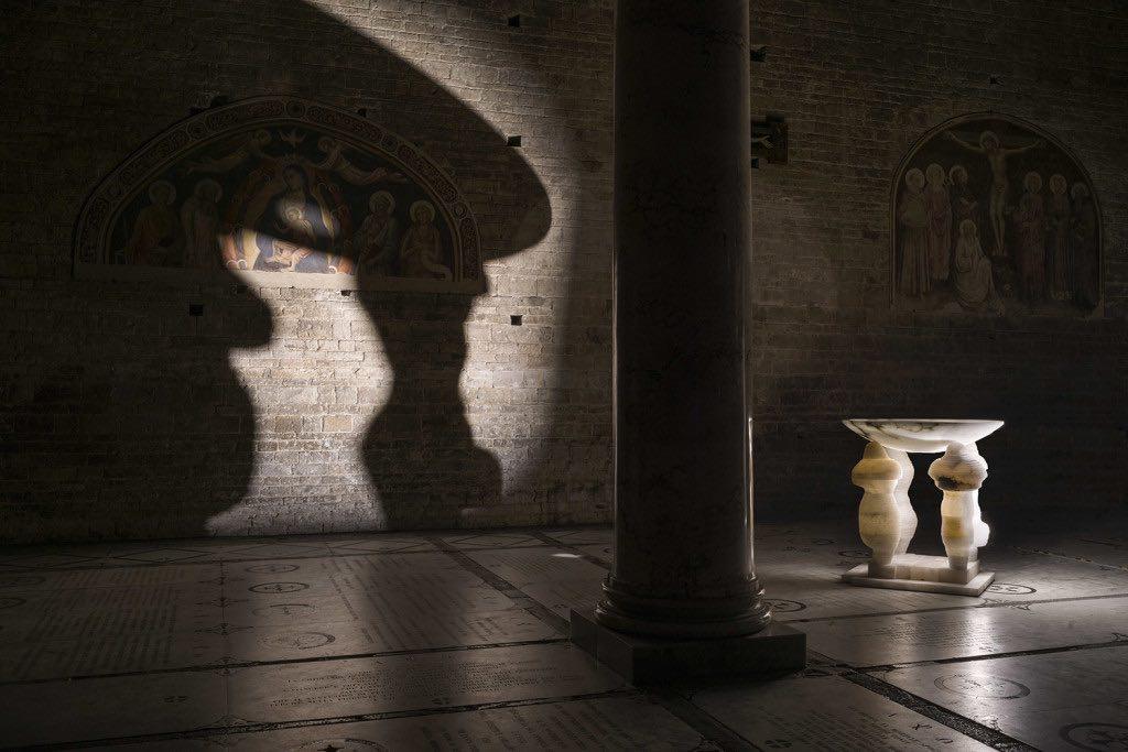 Marco Bagnoli, Fonte battesimale (fotografia di Ela Bialkowska)