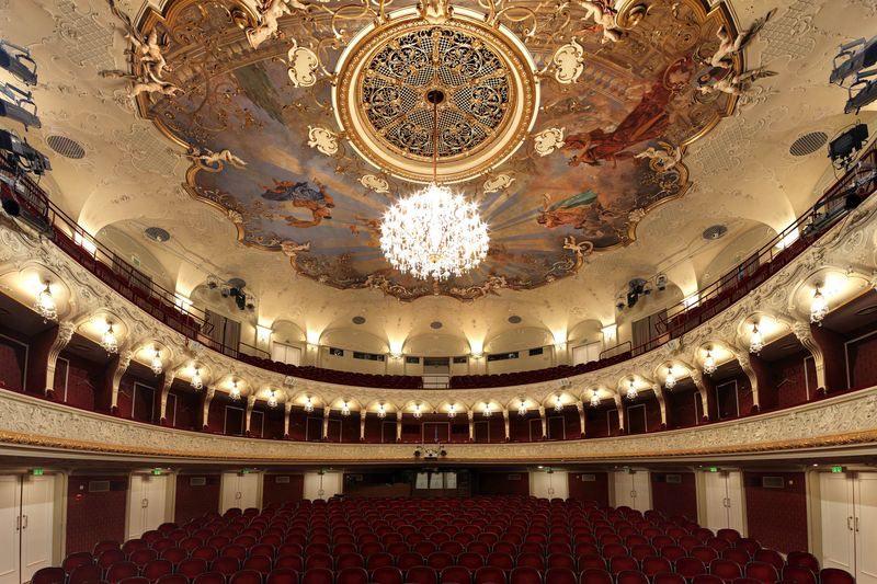 All'interno del Teatro di Stato di Salisburgo, un altro luogo del festival.Fotografo Bernhard Hartmann