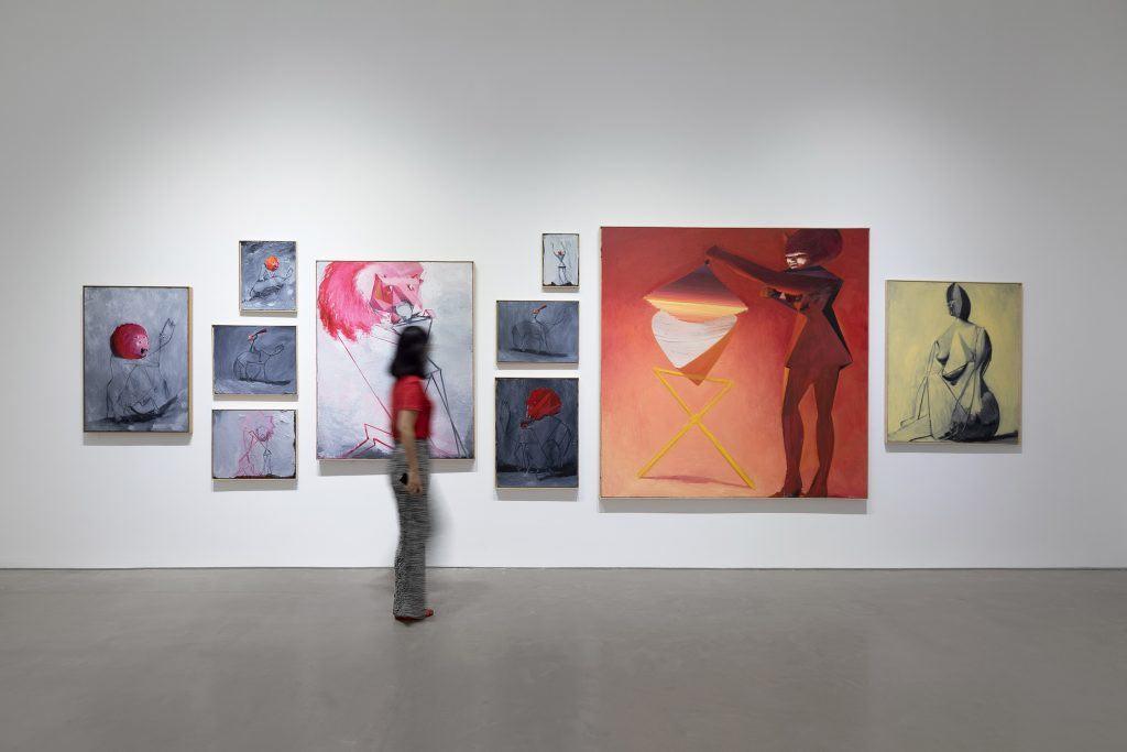 Vista dell'installazione di Ma Ke  2020. Per gentile concessione di N3 Contemporary Art.