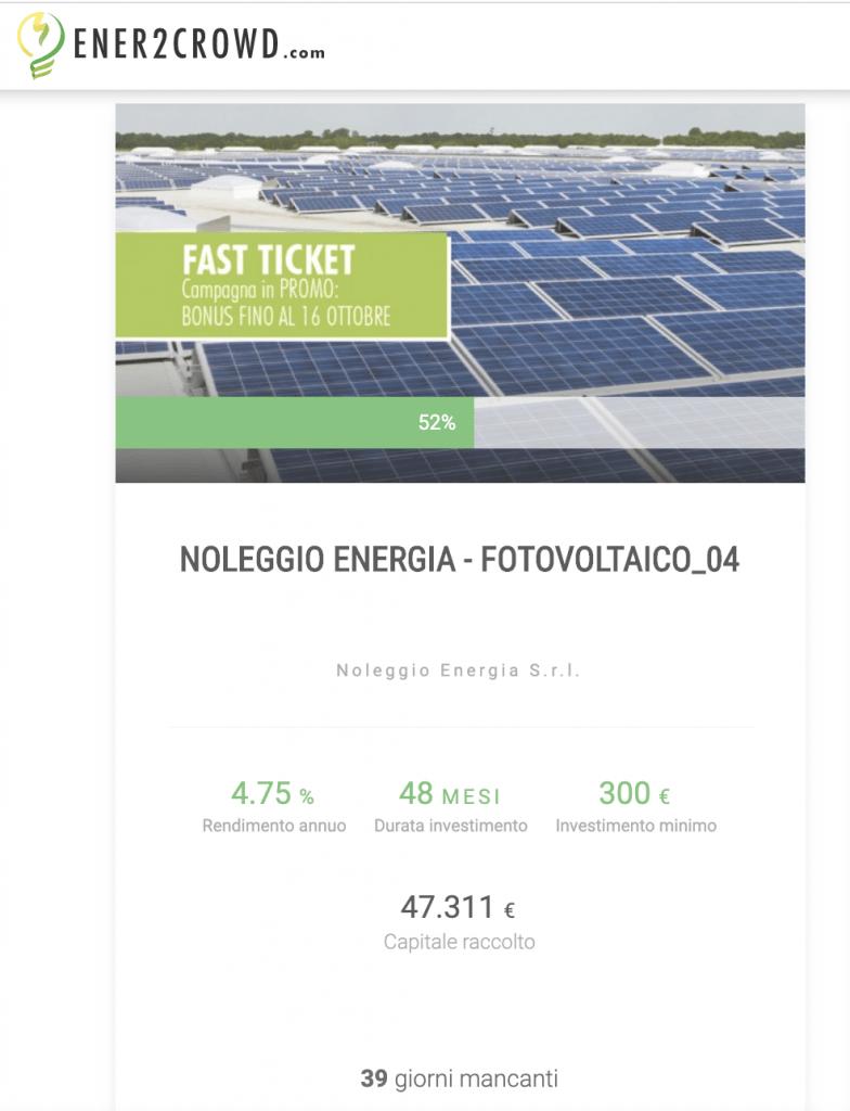 Noleggio Energia