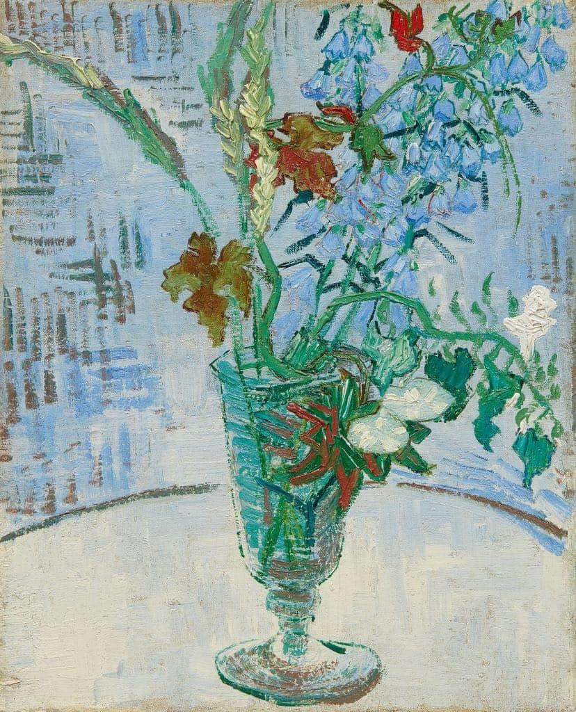 Vincent Van Gogh, Fleurs dans un verre (1890). Per gentile concessione di Sotheby's.
