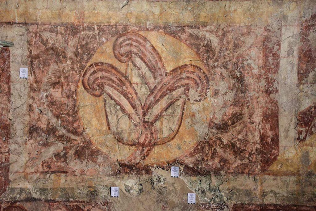 Un dettaglio di uno dei murales della cattedrale di Augusta. Foto Angelika Porst.