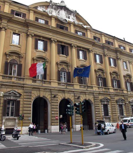 La sede del Ministero del tesoro a Roma