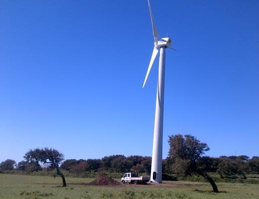 L'impianto eolico Santu Lussurgiu