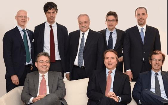 Da sinistra: Carl Nauckhoff, Salvatore Catapano,  Mateo Paniker, Dante Razzano, Andrea C. Bonomi, Carlo Umberto Bonomi, Roberto Maestroni e Joaquin Guell
